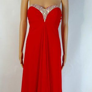 Sexy Faviana Plus Size 20W in Red Formal Gown